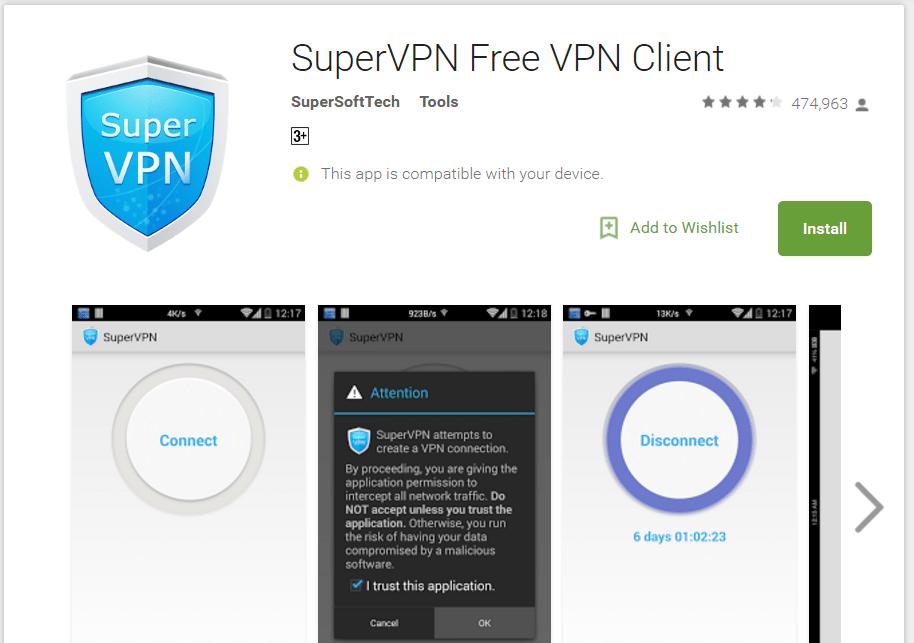 supervpn free android vpn